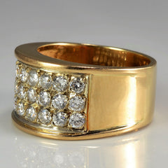 Wide Diamond Pave Band | 1.00 ctw, SZ 7 |