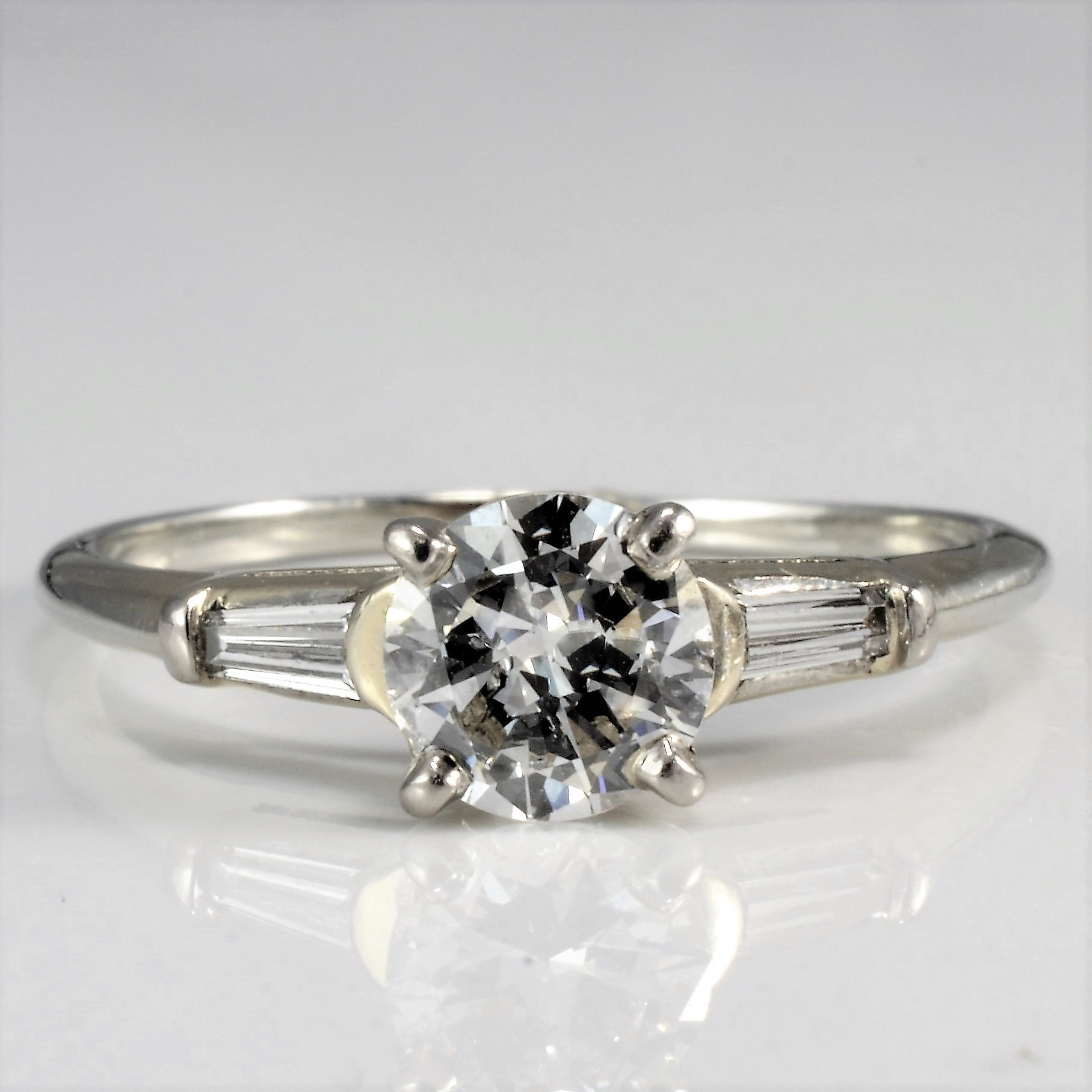 a wms cut p rings d over white with al accent gold accented engagement solitaire round ring