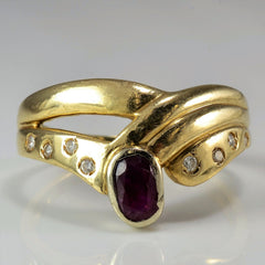 Bypass Bezel Set Ruby Ring | 0.08 ctw, SZ 9.75 |