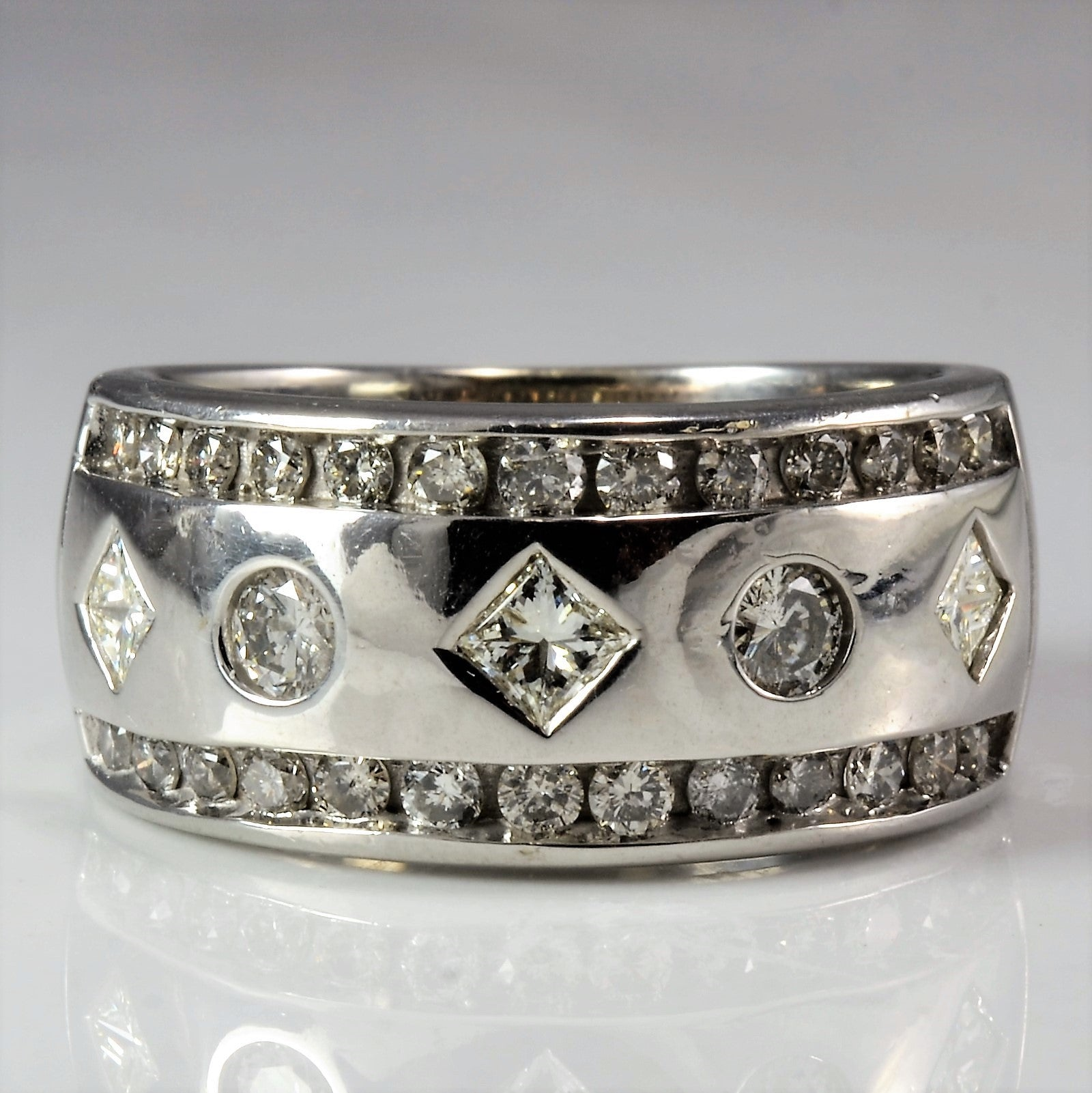 classic platinum db band diamond ring beers de eternity full