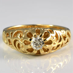 Vintage Inspired Filigree Diamond Ring | 0.16 ct, SZ 6.25 |