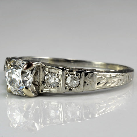 Art Deco Era Engagement Ring | 0.46 ctw, SZ 5.25 |