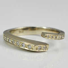 Diamond Edged Bypass Ring | 0.15 ctw, SZ 4.25 |