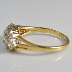 Three Row Diamond Cluster Ring | 0.75 ctw, SZ 9.5 |