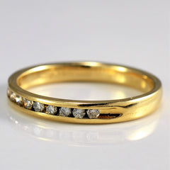 Channel Set Diamond Band | 0.16 ctw, SZ 7.25 |