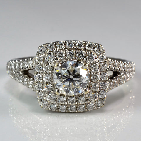"Michael Hill Double Halo ""Arpeggio"" Engagement Ring 