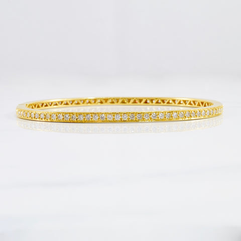 Diamond Bangle | 1.46 ctw SZ 8"