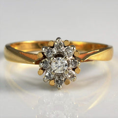 Tapered Diamond Cluster Ring | 0.10 ctw, SZ 5.75 |