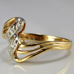 Twisted Cascade Ring | 0.03 ctw, SZ 8 |