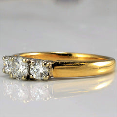 Three Stone Diamond Engagement Ring | 0.50 ctw, SZ 6 |