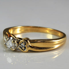 Diamond Illusion Ring With Heart Accents | 0.10 ctw, SZ 6 |