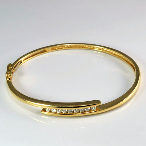 Bypass Channel Diamond Ladies Bangle | 0.50 ctw |