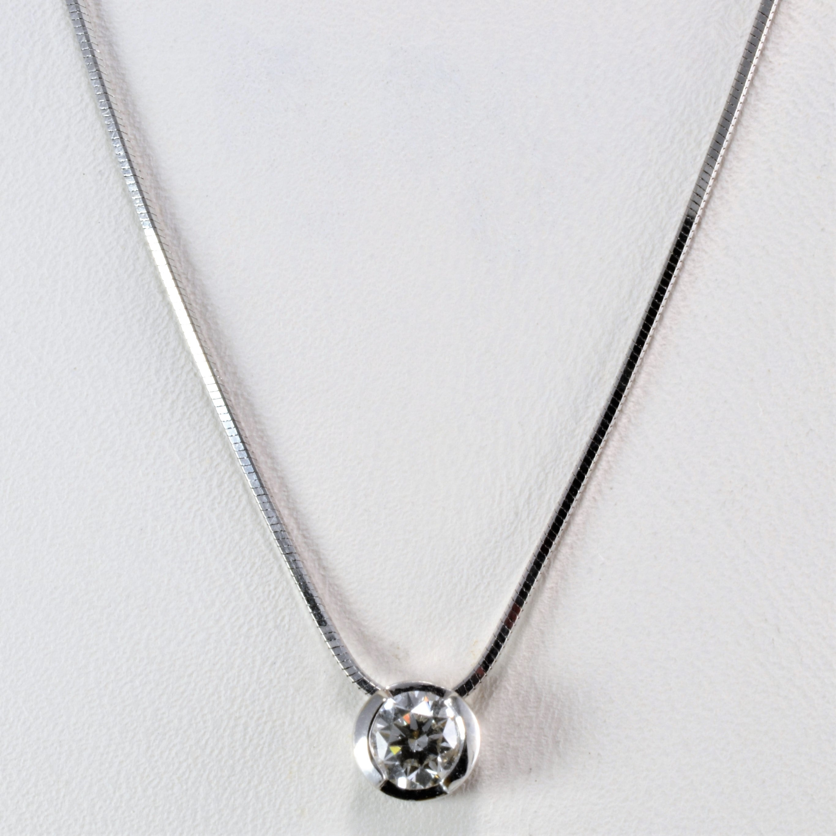 pendant ways solitaire set bezel ct diamond dsc products necklace