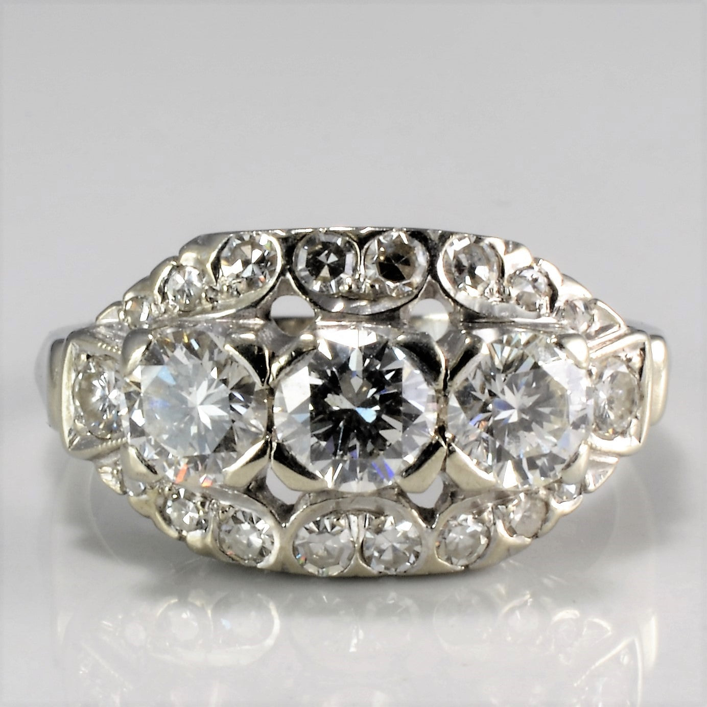 Vintage Art Deco Diamond Engagement Ring | 1.36 ctw, SZ 5.5 |