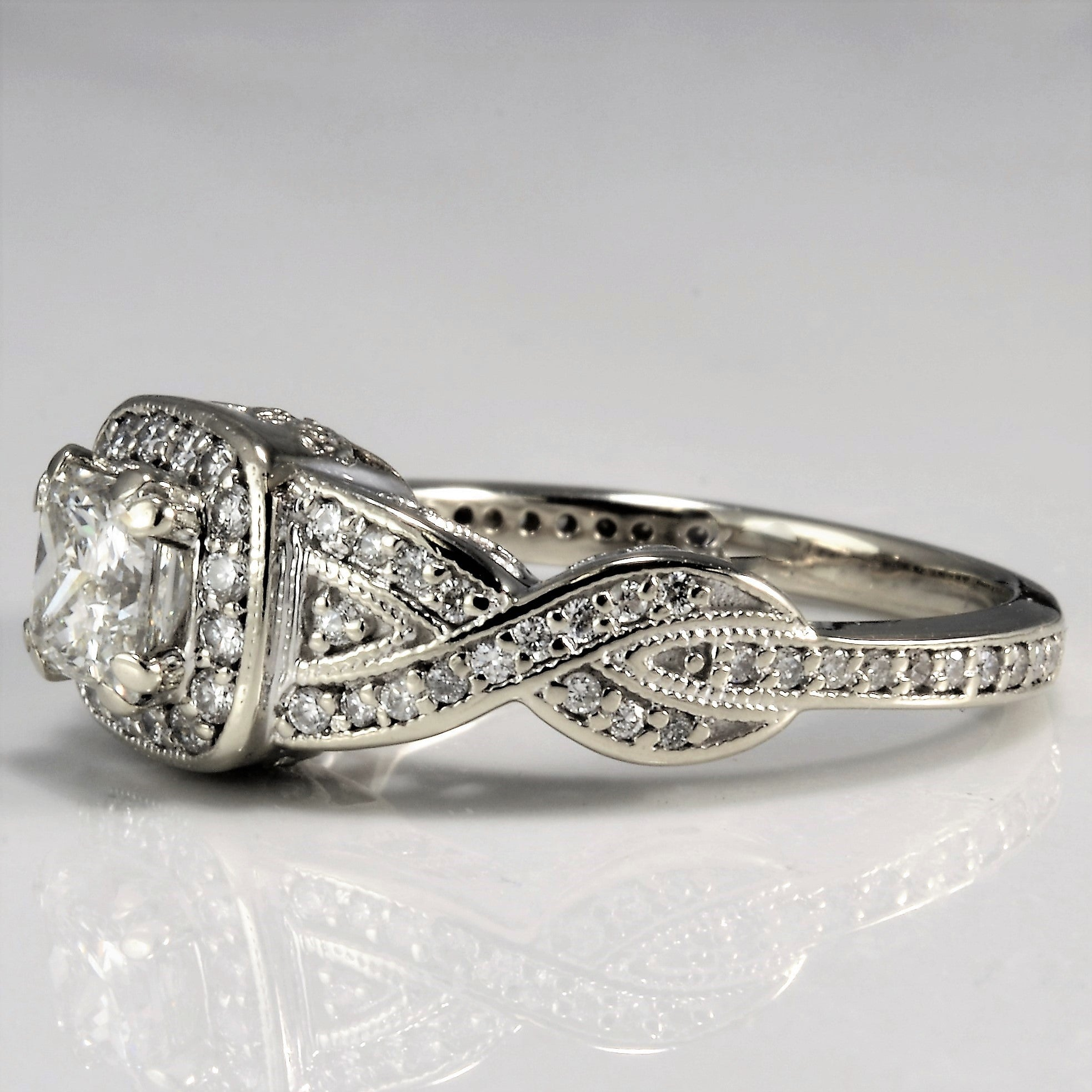 rings bridal engagement stone glenda ring full set band wedding ebay itm