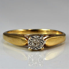 Tapered Illusion Set Diamond Ring | 0.01 ct, SZ 3 |
