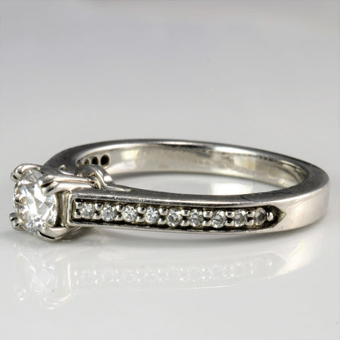 Platinum Diamond Engagement Ring | 0.45 ctw, SZ 5.5 |