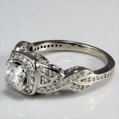 Princess Cut Braided Band Engagement Ring | 1.05 ctw, SZ 7 |