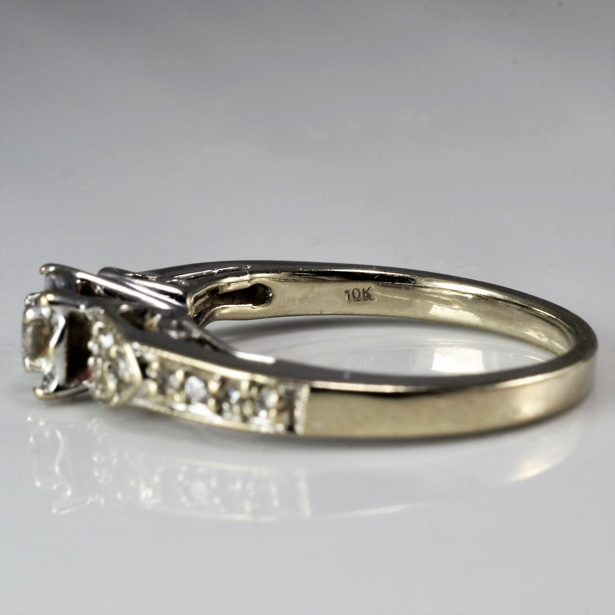 Floral Diamond Illusion Ring | 0.16 ctw, SZ 5 |