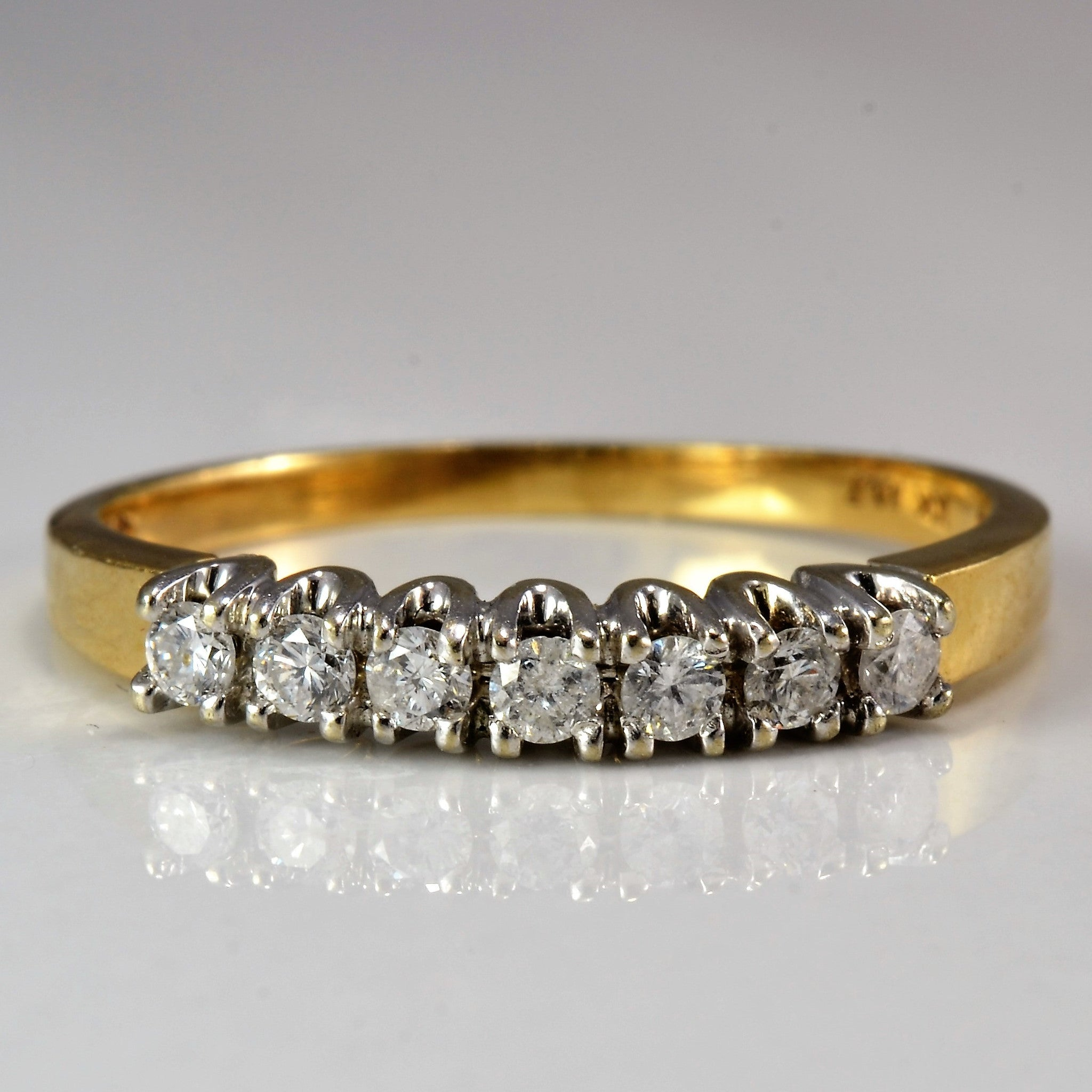Classic Diamond Wedding Band | 0.21 ctw, SZ 7.25 |