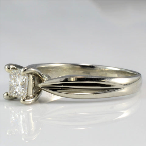 Stunning Princess Cut Diamond Solitaire Engagement Ring SZ 6.75