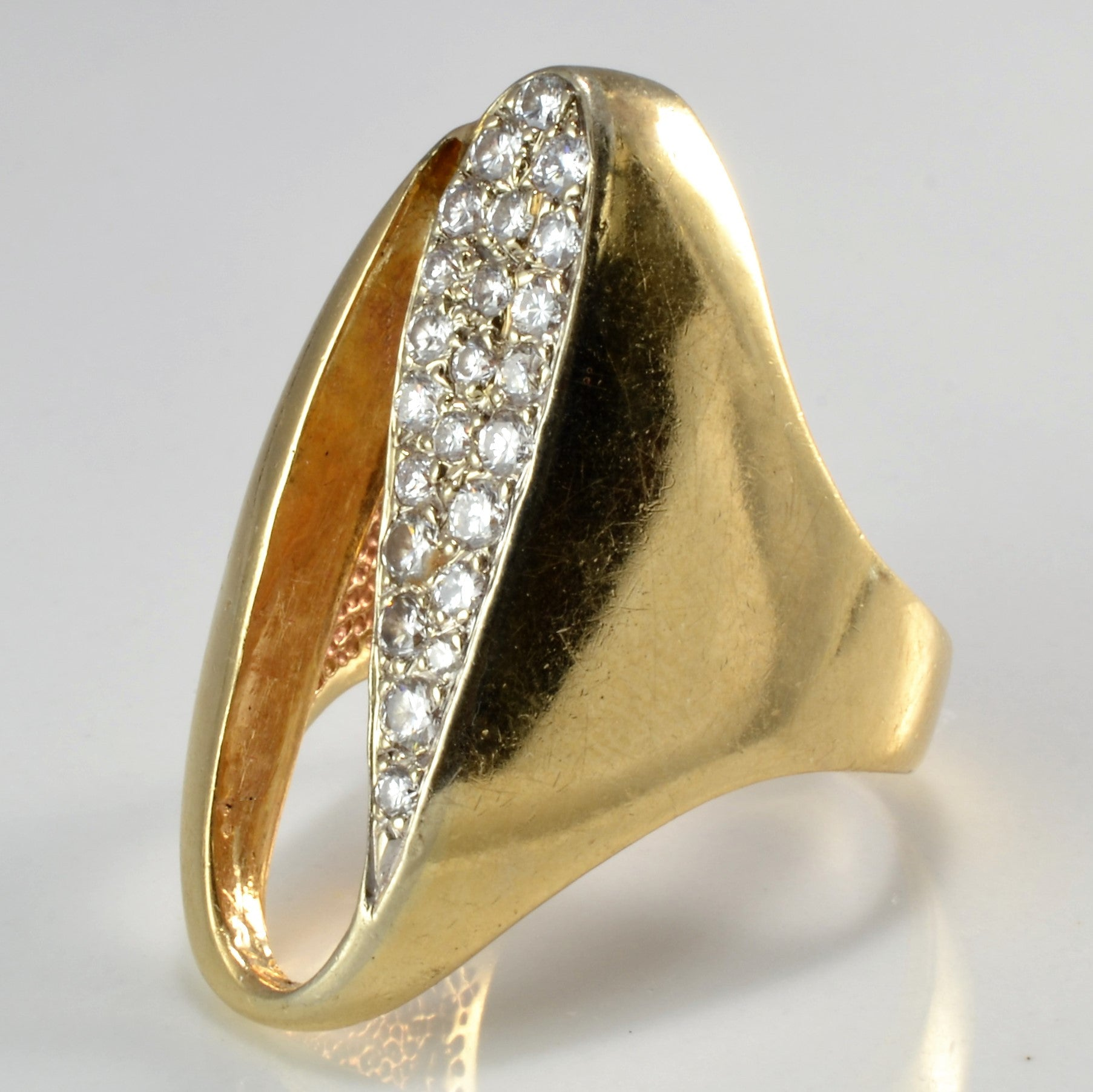 Unique Pattern Chevron Diamond Ring | 0.45 ctw, sz 8.25 |
