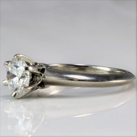 Classic Tiffany & Co. Six Prong Solitaire Engagement Ring | 0.80 ct, SZ 3.5 |