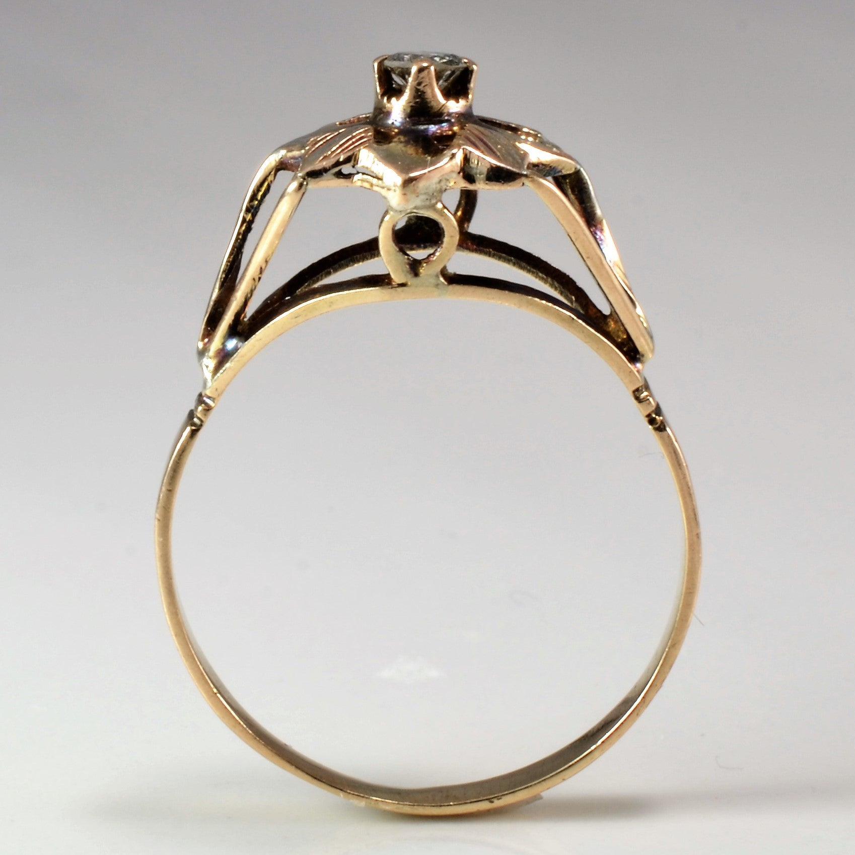 Vintage High Set Diamond Ring | 0.10 ct, SZ 8.75 |