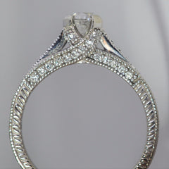 Pave Diamond Cathedral Engagement Ring | 1.02 ctw, SZ 8.5 |