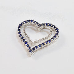 Sapphire and Diamond Heart Pendant | 0.02 ctw |
