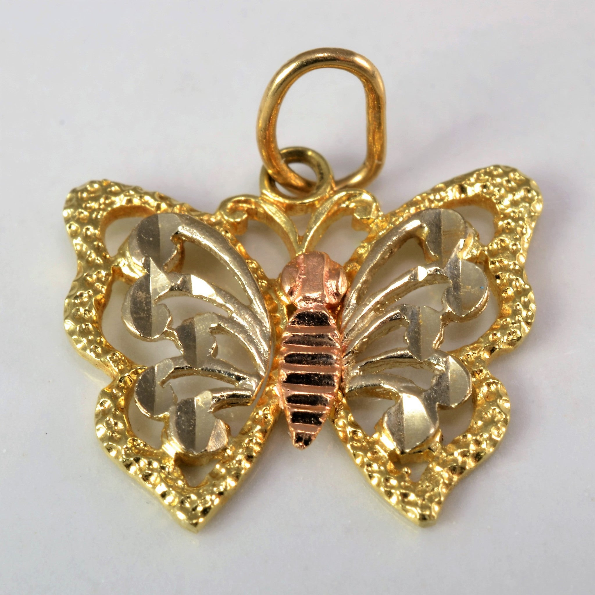 Two Tone Butterfly Pendant