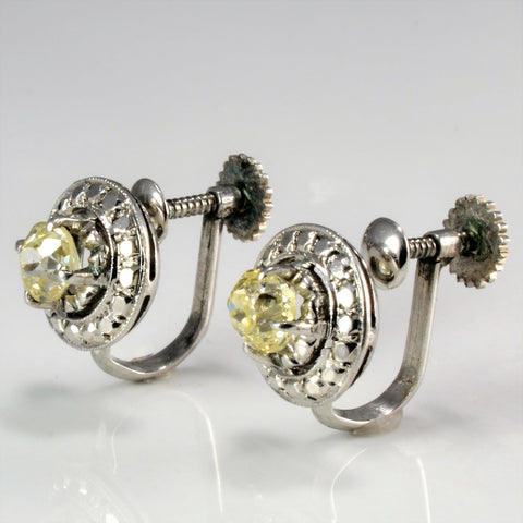 Old Mine Diamond Fancy Clip On Earrings | 0.70 ctw |