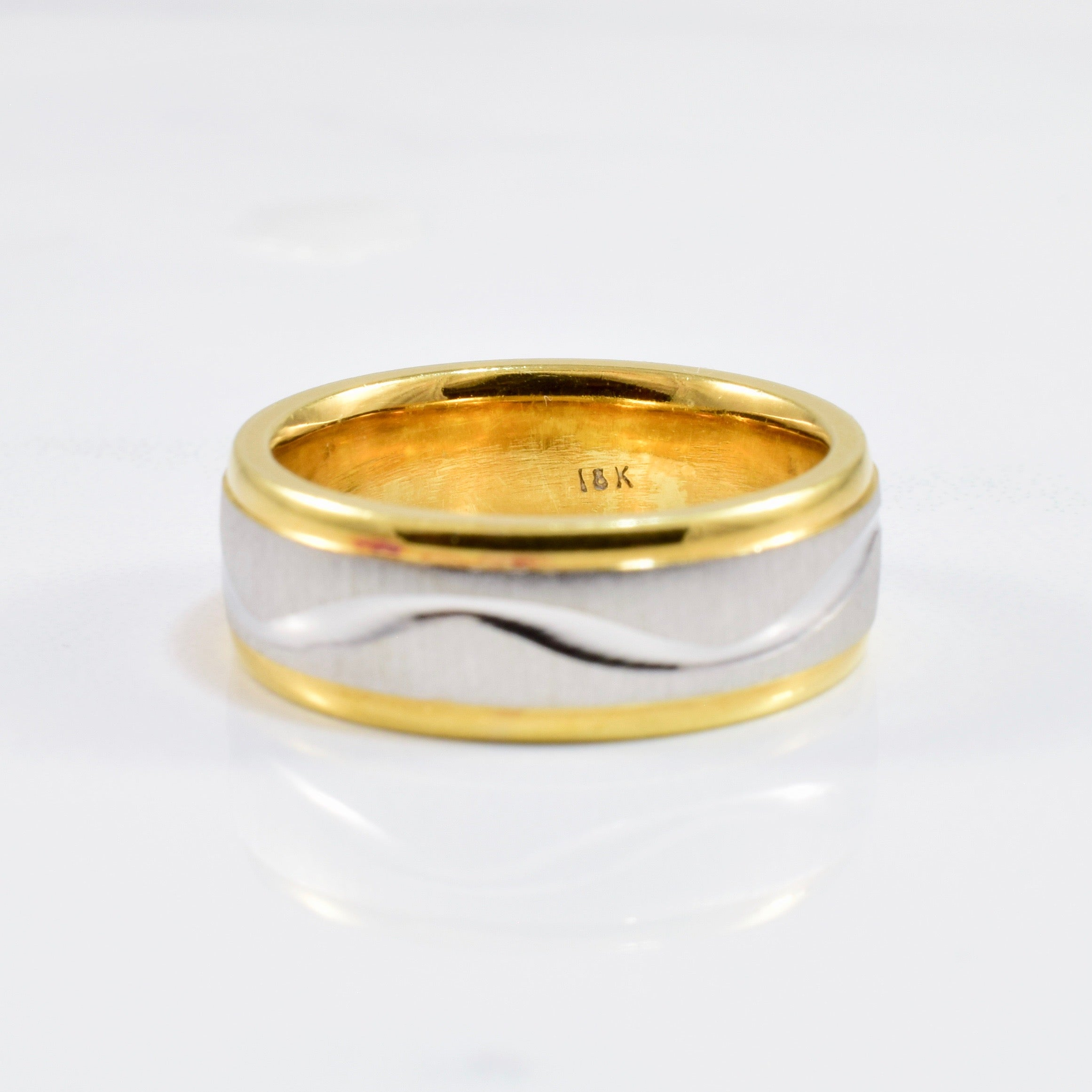 Two Tone Gold Band | SZ 5.5 |