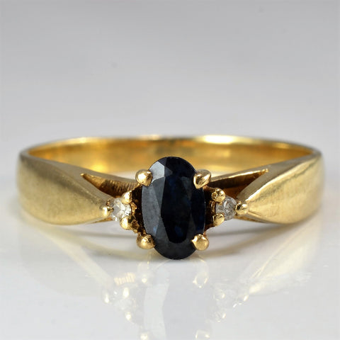 Tapered Oval Cut Sapphire Ring | 0.01 ctw, SZ 5.5 |