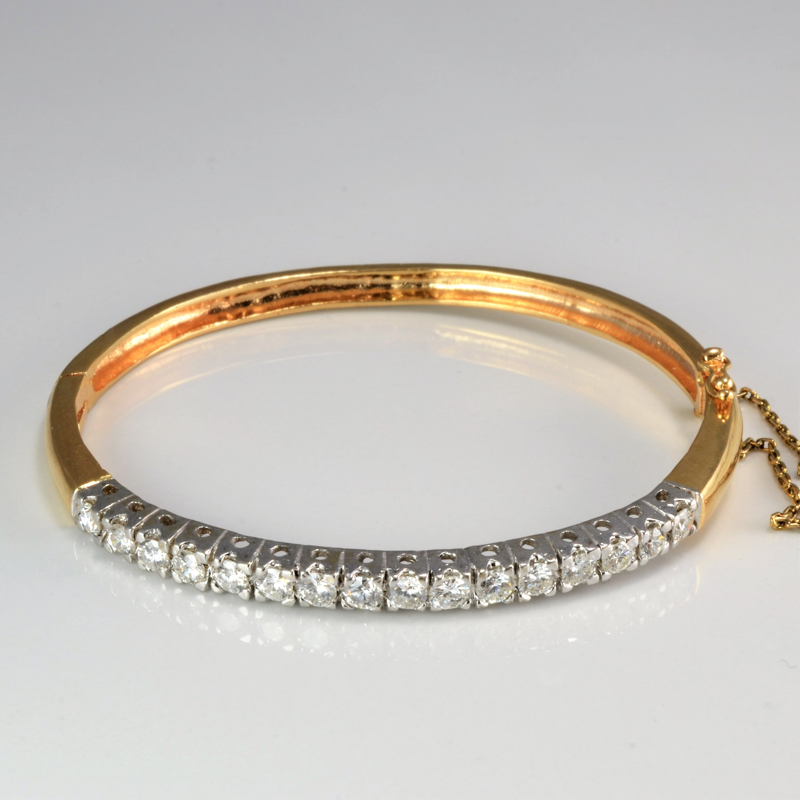 round nuha gold bangle baguette jewelers pave bangles bracelet r products diamond