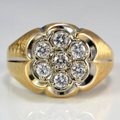 Large Diamond Cluster Ring | 0.35 ctw, SZ 10 |