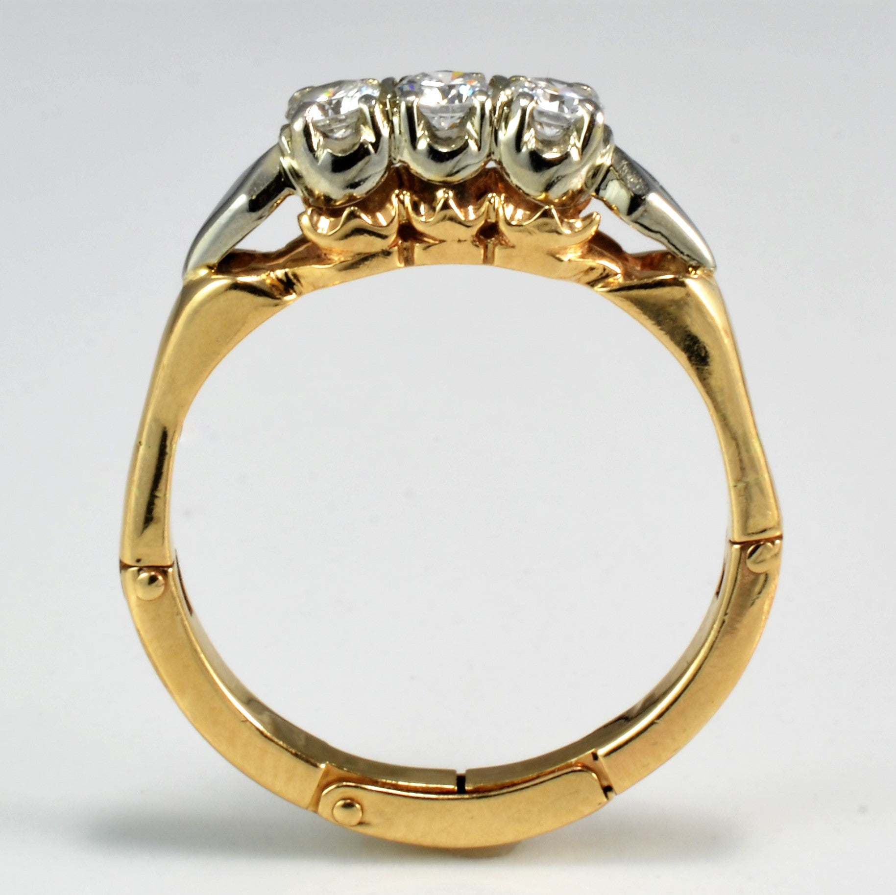 Retro Diamond Ring With Arthritic Shank | 0.33 ctw, SZ 8.25 |