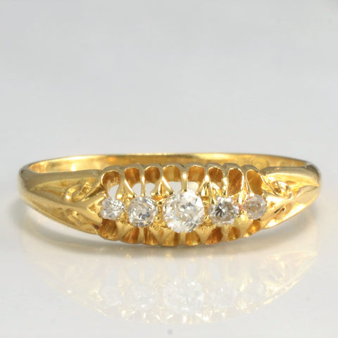 Victorian Five Stone Diamond Ring | 0.17 ctw, SZ 8.5 |