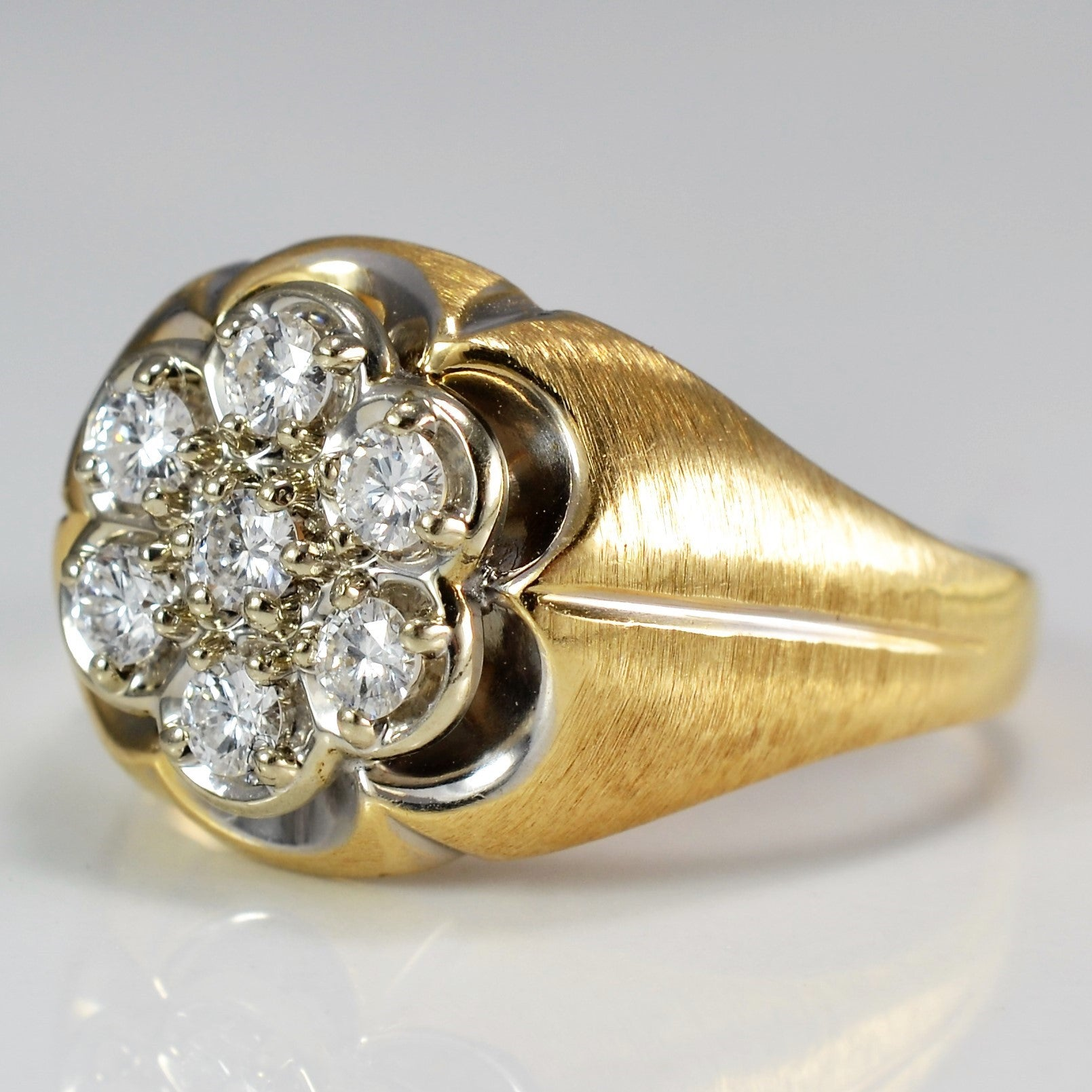 Large Diamond Cluster Cocktail Ring | 0.35 ctw, SZ 10 |