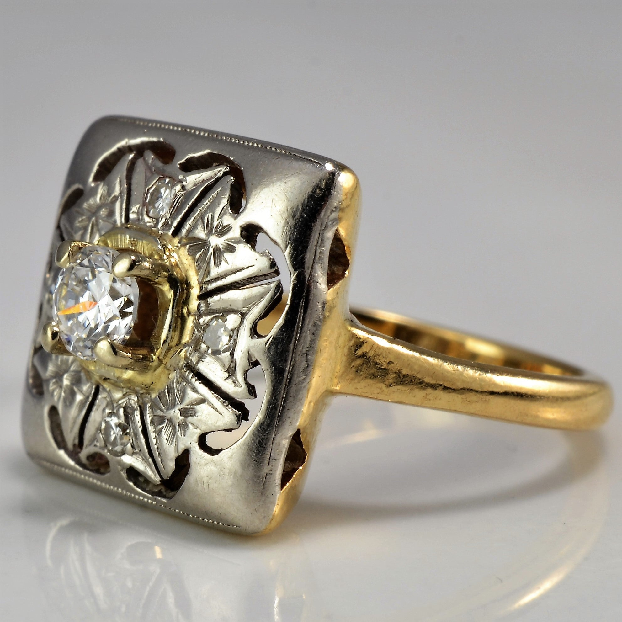 Intricate Art Deco Engagement Ring | 0.26 ctw, SZ 5.25 |
