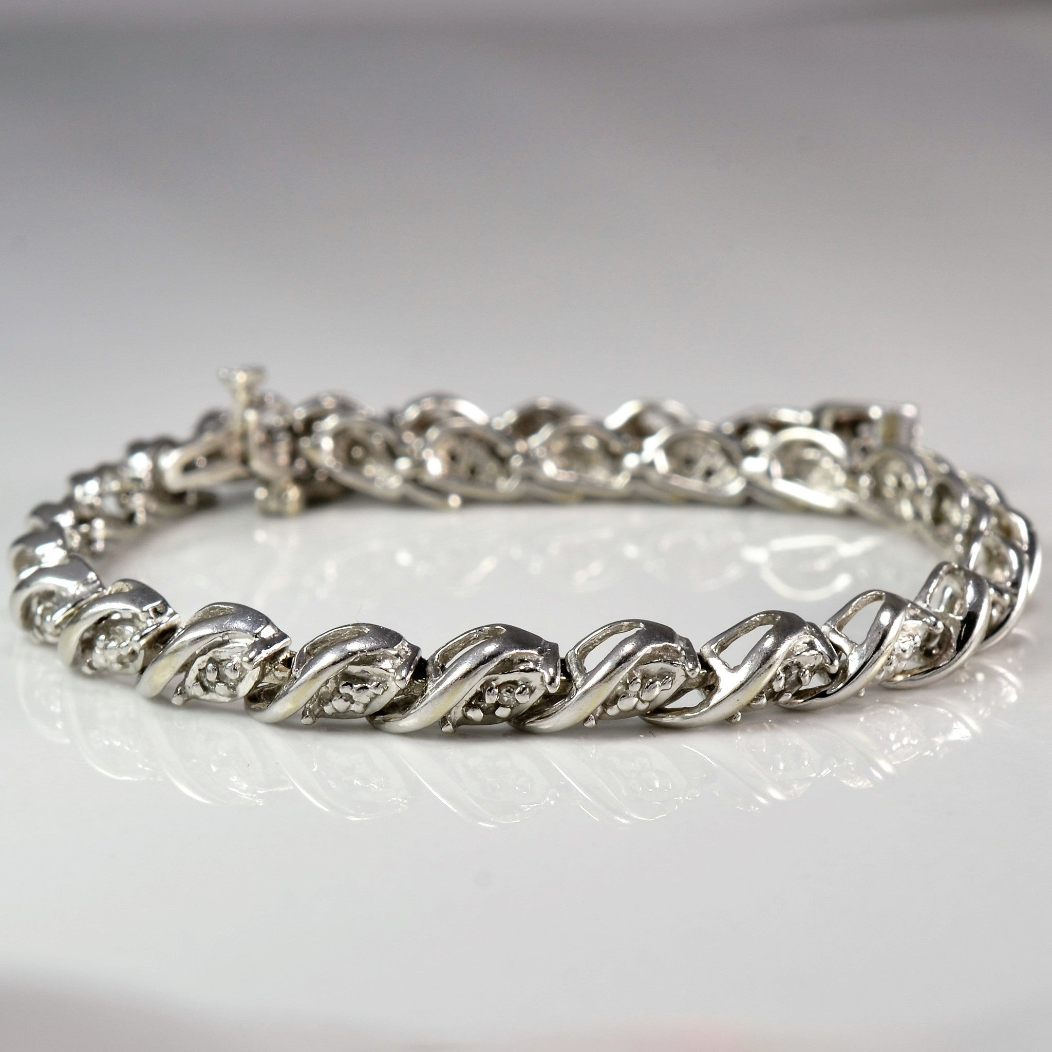 Diamond Wave Tennis Bracelet | 0.20 ctw, 7.5"