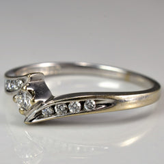 Tapered Bypass Diamond Promise Ring | 0.15 ctw, SZ 7 |