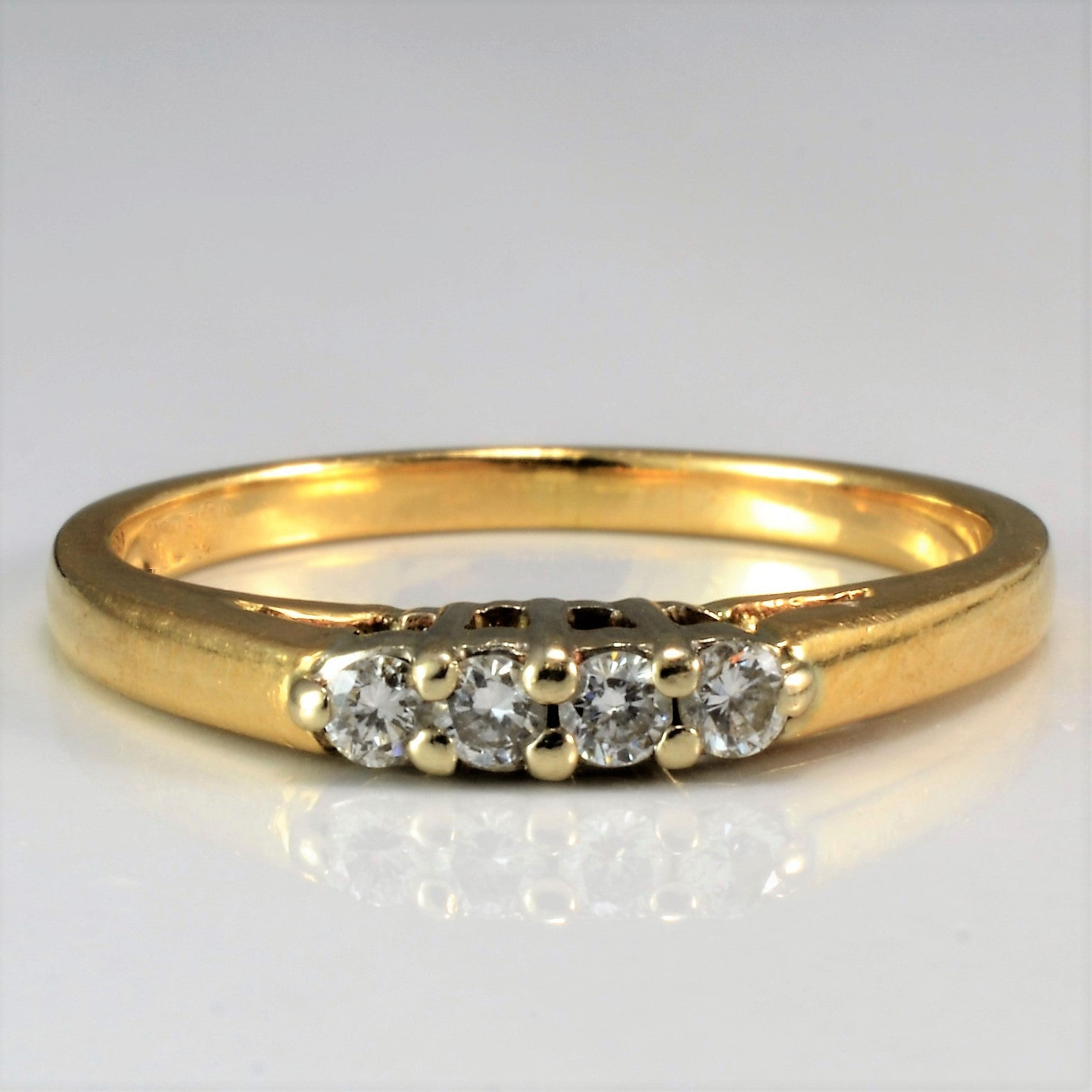 Four Stone Diamond Band | 0.12 ctw, SZ 5.5 |