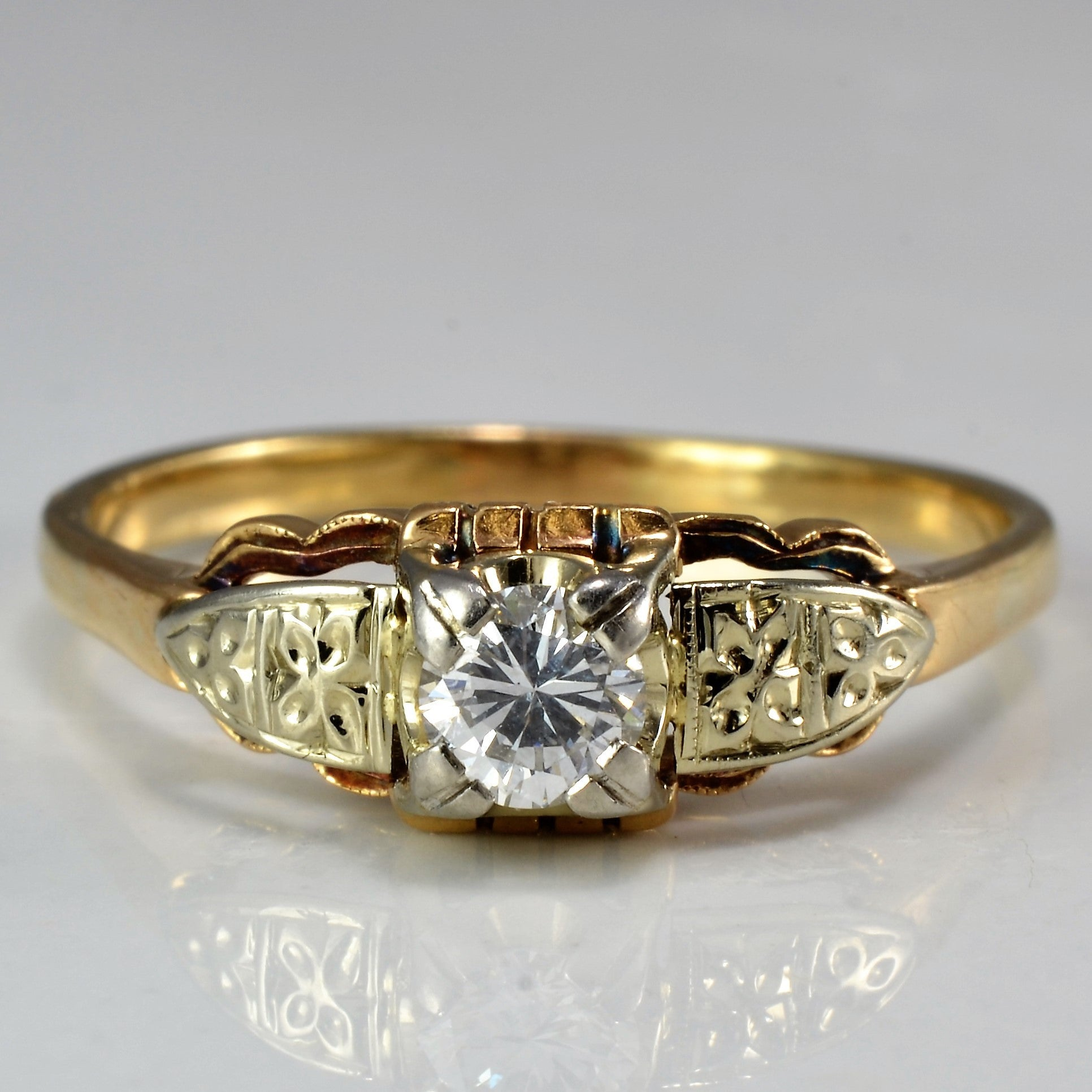 Petite Engagement Ring Circa 1930's | 0.23 ct, SZ 9.25 |