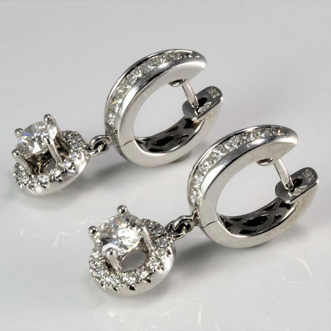 Elegant Multi-Diamond Dangle Drop Earrings | 1.10 ctw |