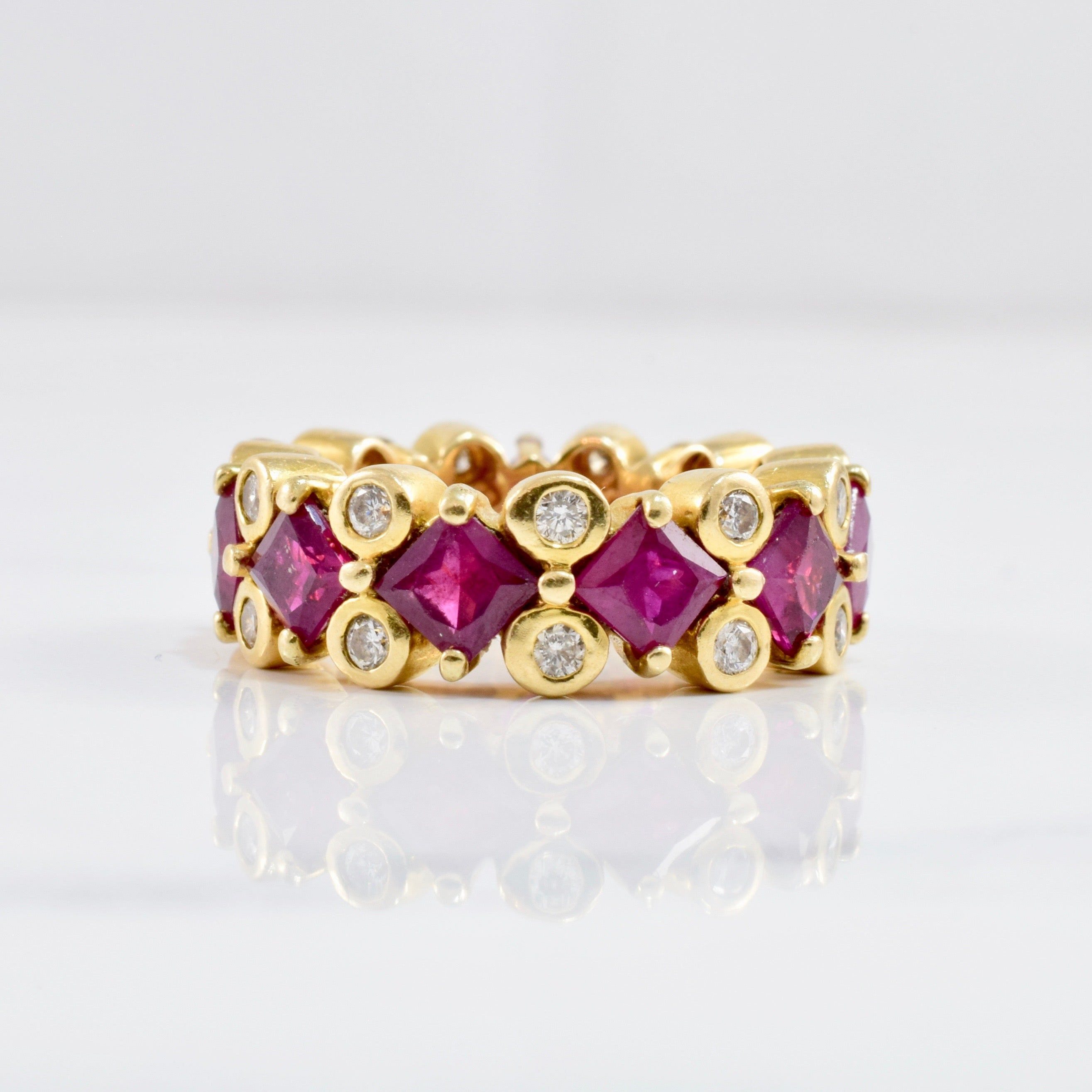 Diamond & Ruby Eternity Ring | 0.50 ctw SZ 5 |