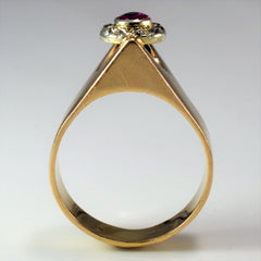 High Set Diamond & Ruby Ring Circa 1930s | 0.30ctw, 0.20ct | SZ 8.5 |
