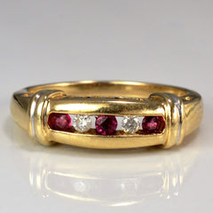'I Love You' Diamond & Ruby Ring | 0.05 ctw, SZ 7 |