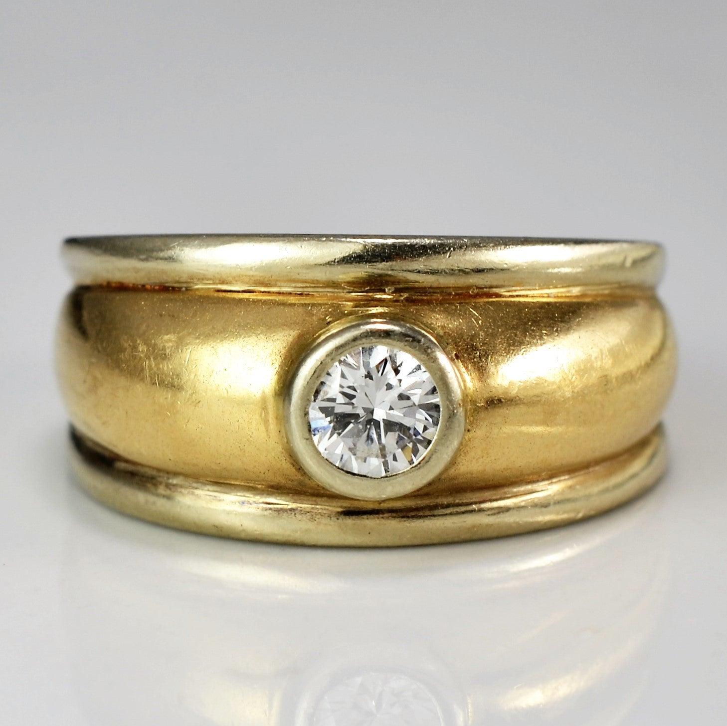 Vintage Wide Band Engagement Ring | 0.30 ct, SZ 5.25 |