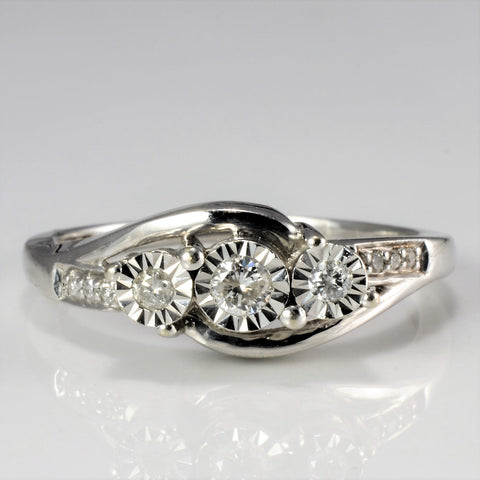 7583360e0 Illusion Set Diamond Ladies Ring | 0.19 ctw, SZ 8.75